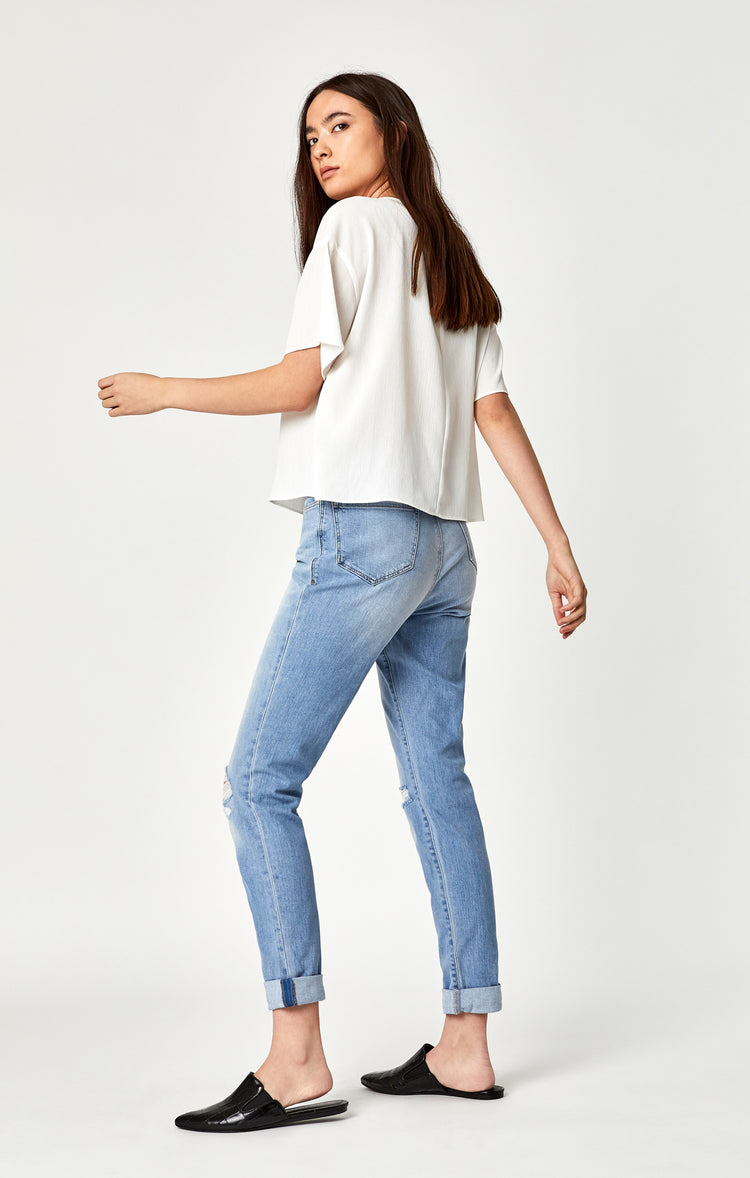 LEA BOYFRIEND IN LIGHT RIPPED VINTAGE - Denim - Mavi Jeans