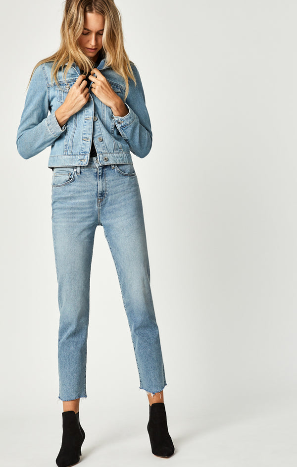 LEA BOYFRIEND JEANS IN MID SHADED 90'S STRETCH - Mavi Jeans