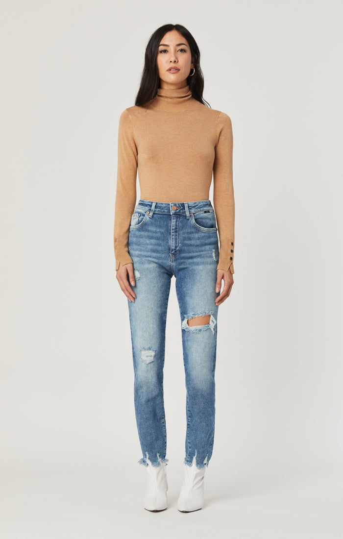 LEA BOYFRIEND JEANS IN LIGHT RIPPED LA VINTAGE - Mavi Jeans