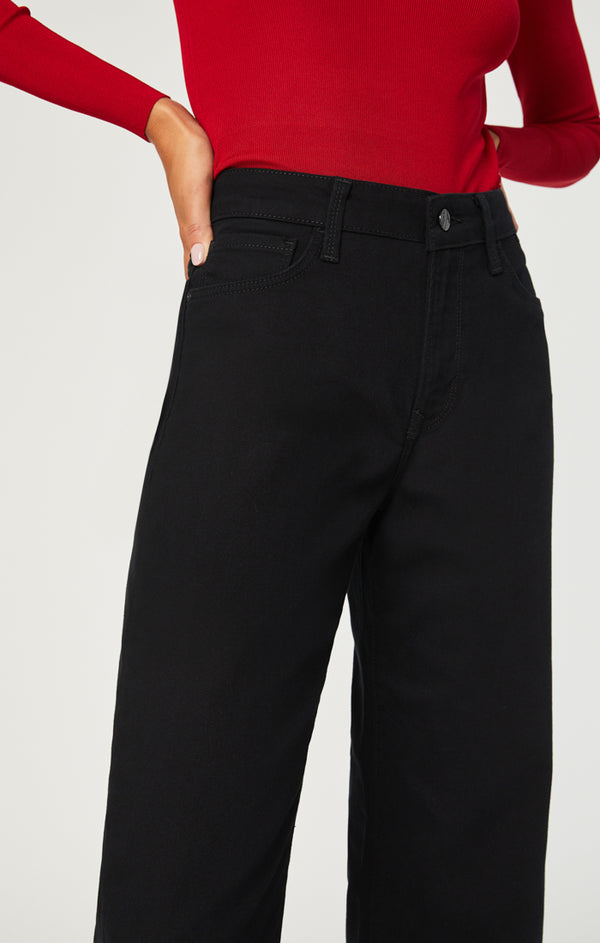 ROMEE CROPPED WIDE LEG JEANS IN DOUBLE BLACK STRETCH - Mavi Jeans