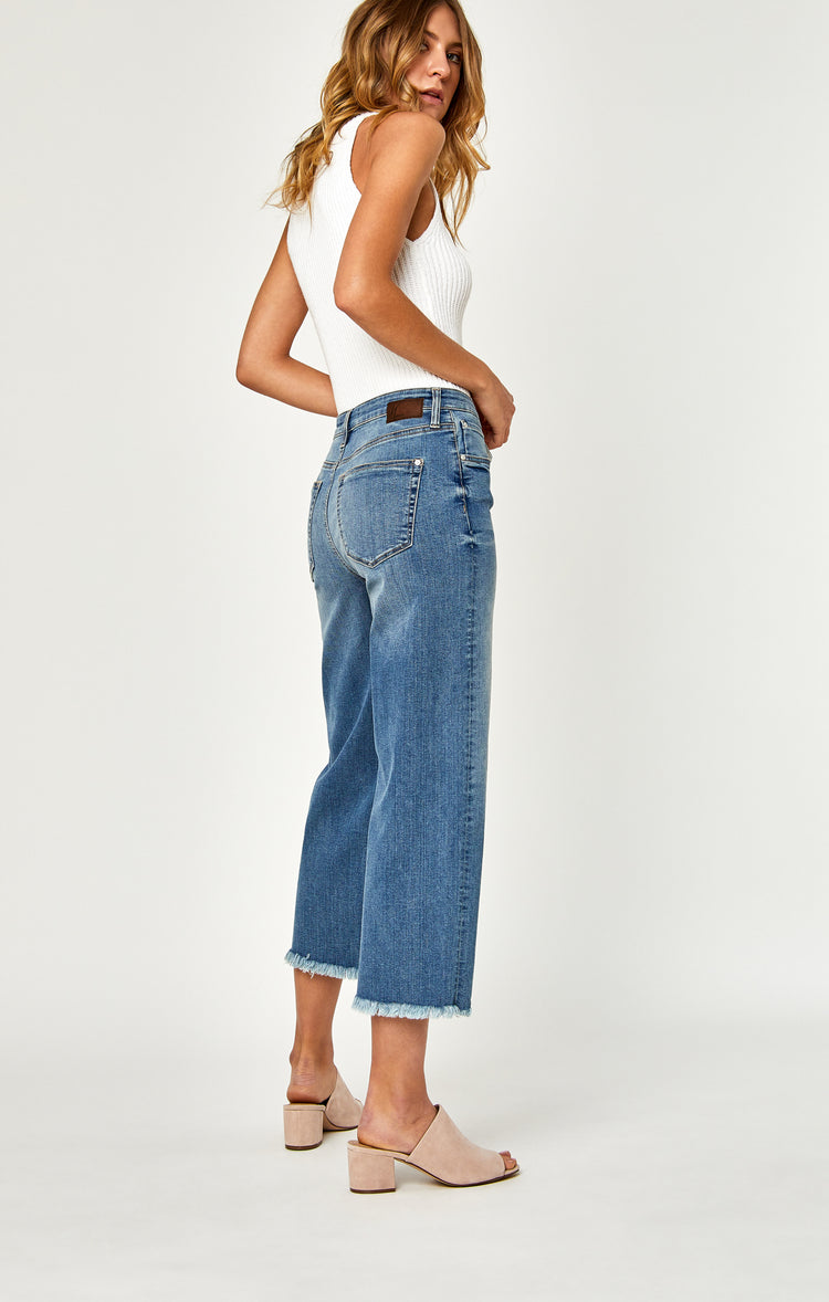 ROMEE WIDE LEG CROP IN USED VINTAGE - Denim - Mavi Jeans