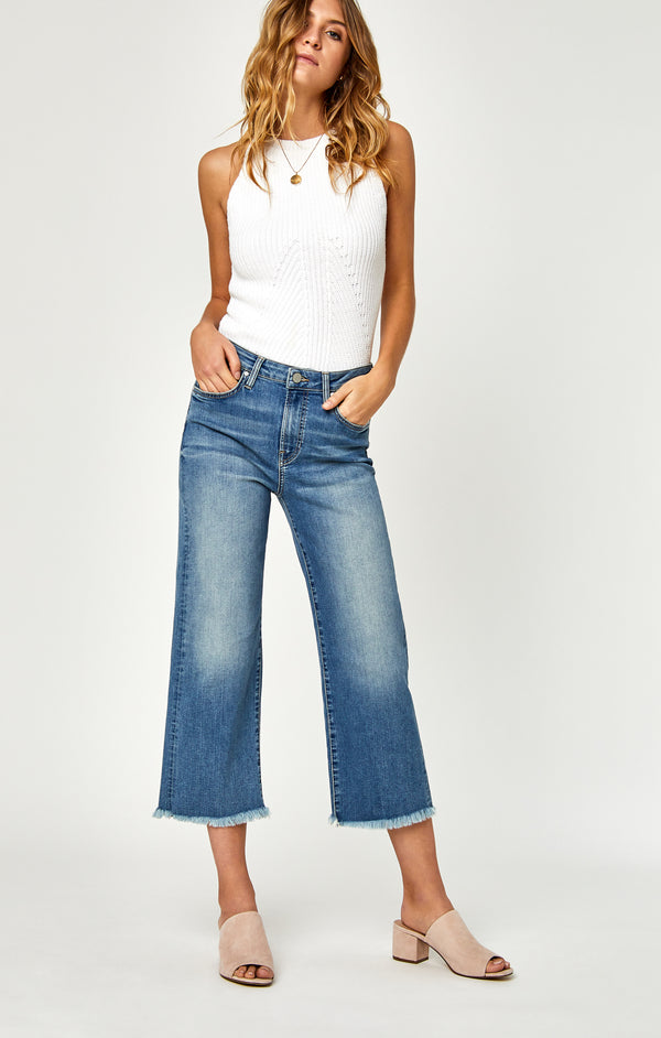 ROMEE CROPPED WIDE LEG JEANS IN USED VINTAGE - Mavi Jeans