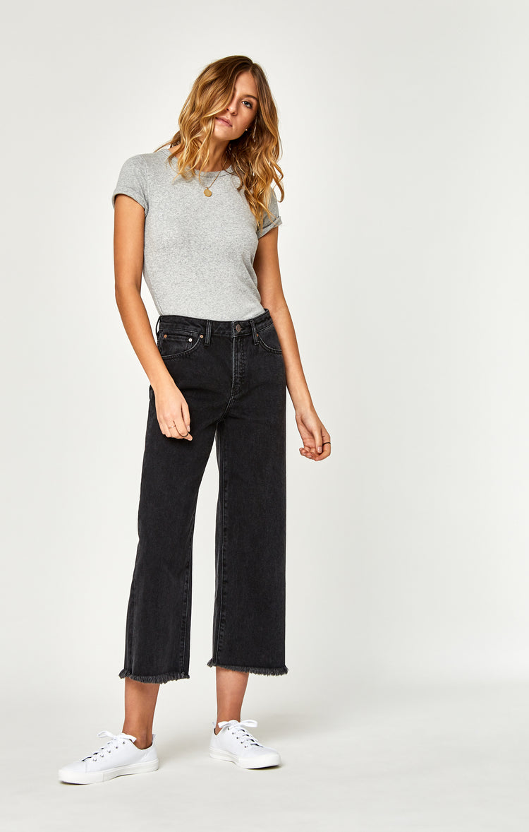 ROMEE WIDE LEG CROP IN SMOKE VINTAGE - Denim - Mavi Jeans