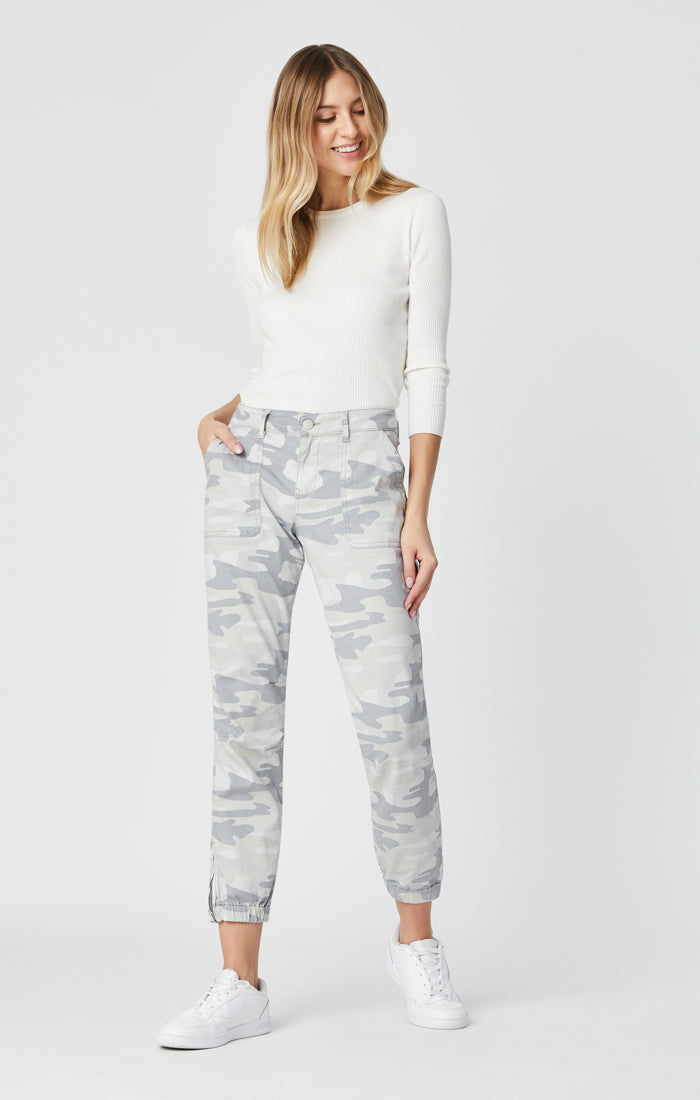 IVY SLIM CARGO PANTS IN GREY CAMO - Mavi Jeans