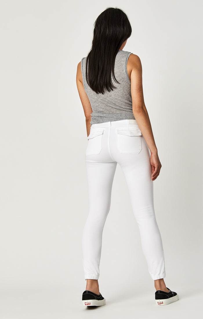 IVY SLIM CARGO PANTS IN WHITE TWILL - Mavi Jeans
