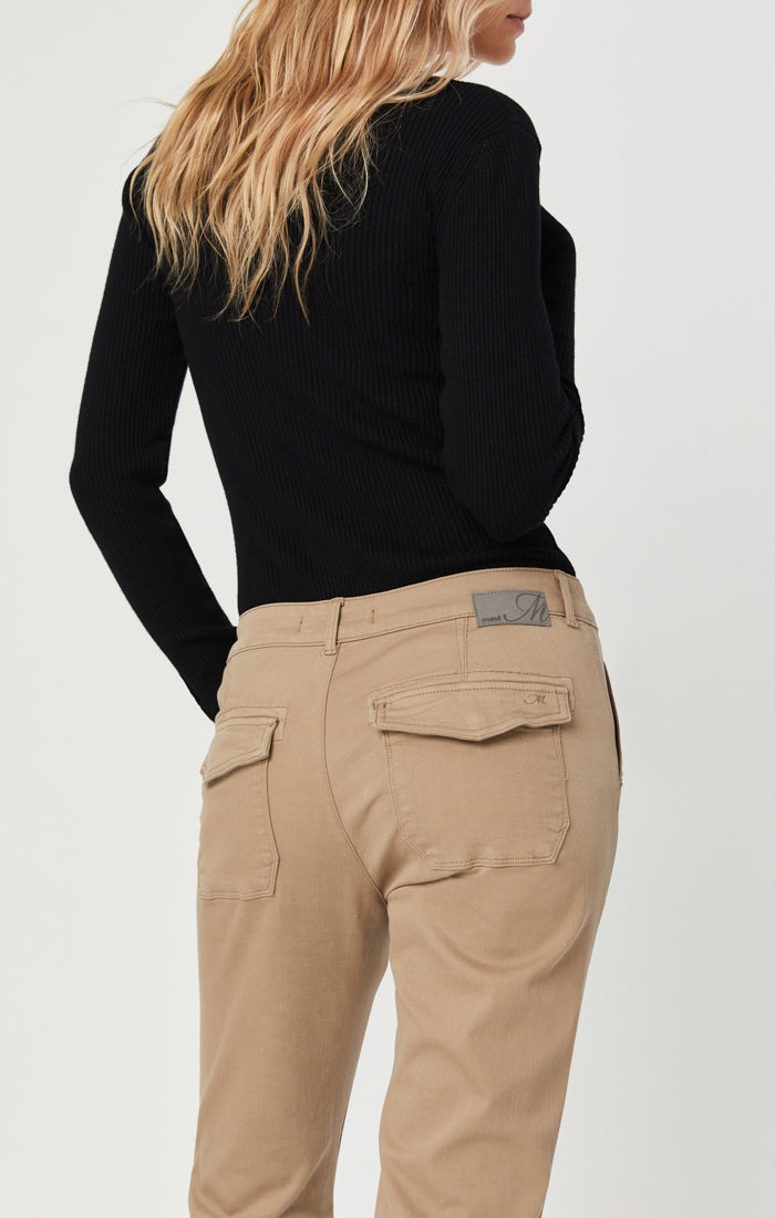IVY SLIM CARGO PANTS IN CAPPUCCINO TWILL - Mavi Jeans