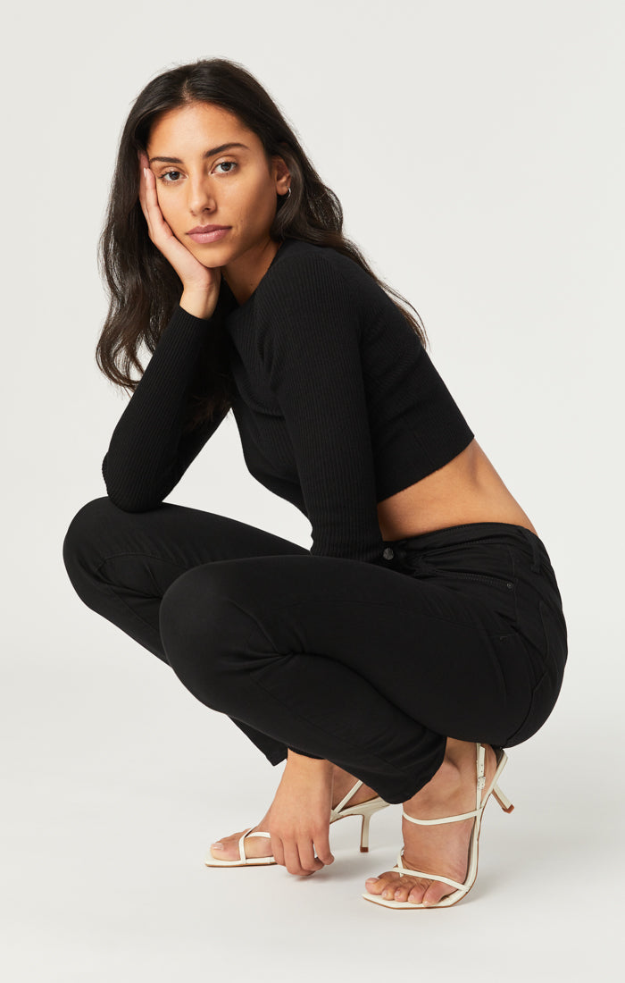 SCARLETT SUPER SKINNY JEANS IN DOUBLE BLACK SUPERSOFT - Mavi Jeans