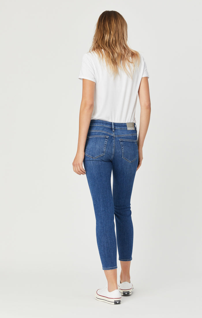 SCARLETT SUPER SKINNY JEANS IN DARK FEATHER BLUE - Mavi Jeans