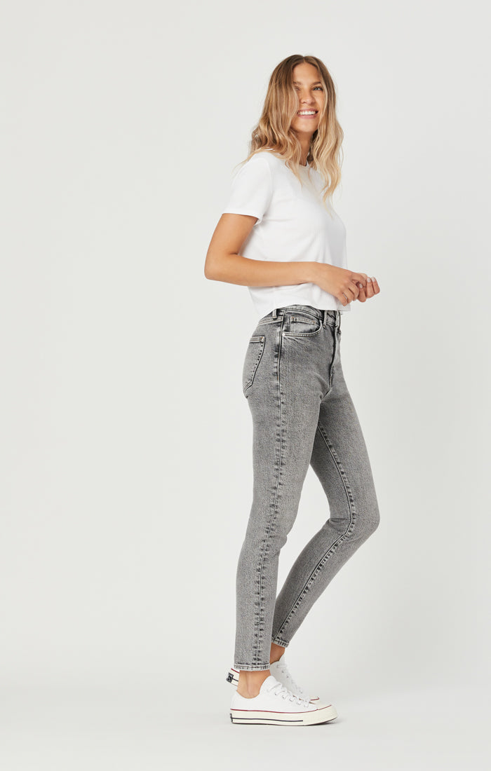 SCARLETT SUPER SKINNY JEANS IN LIGHT GREY DENIM - Mavi Jeans