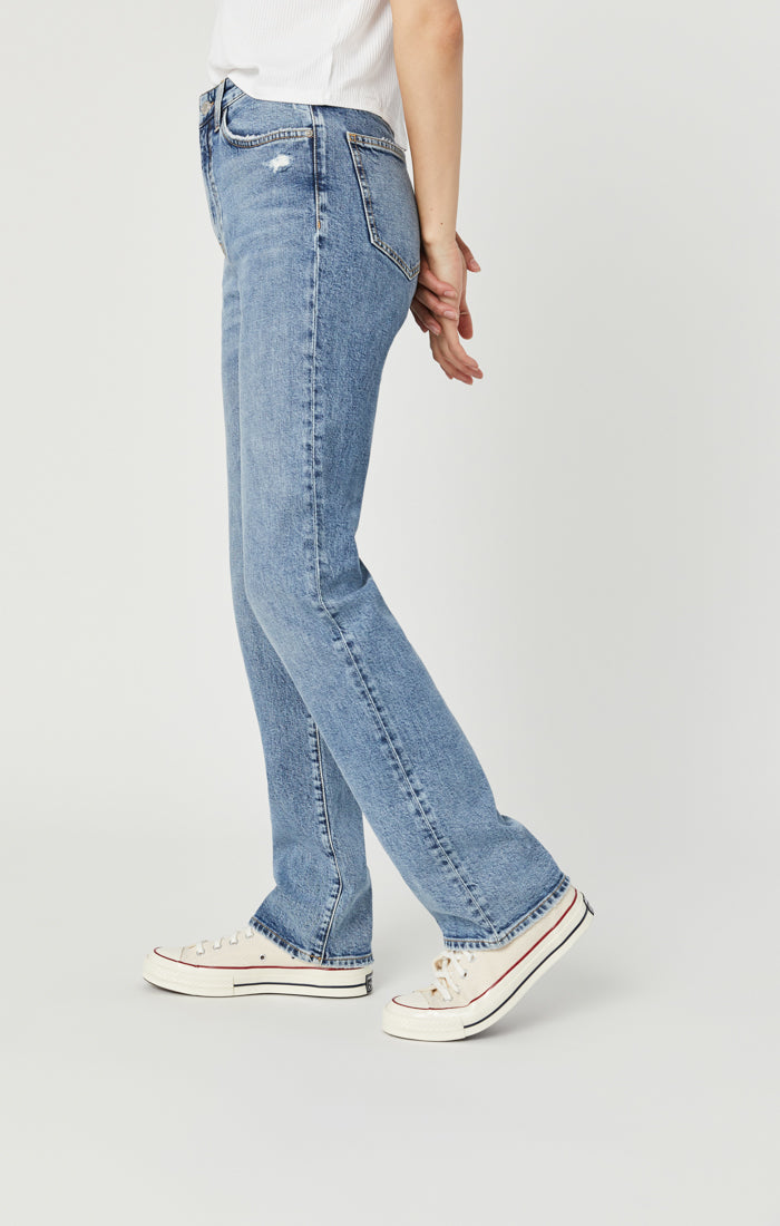 VERONICA STRAIGHT LEG JEANS IN LIGHT RECYCLED BLUE - Mavi Jeans