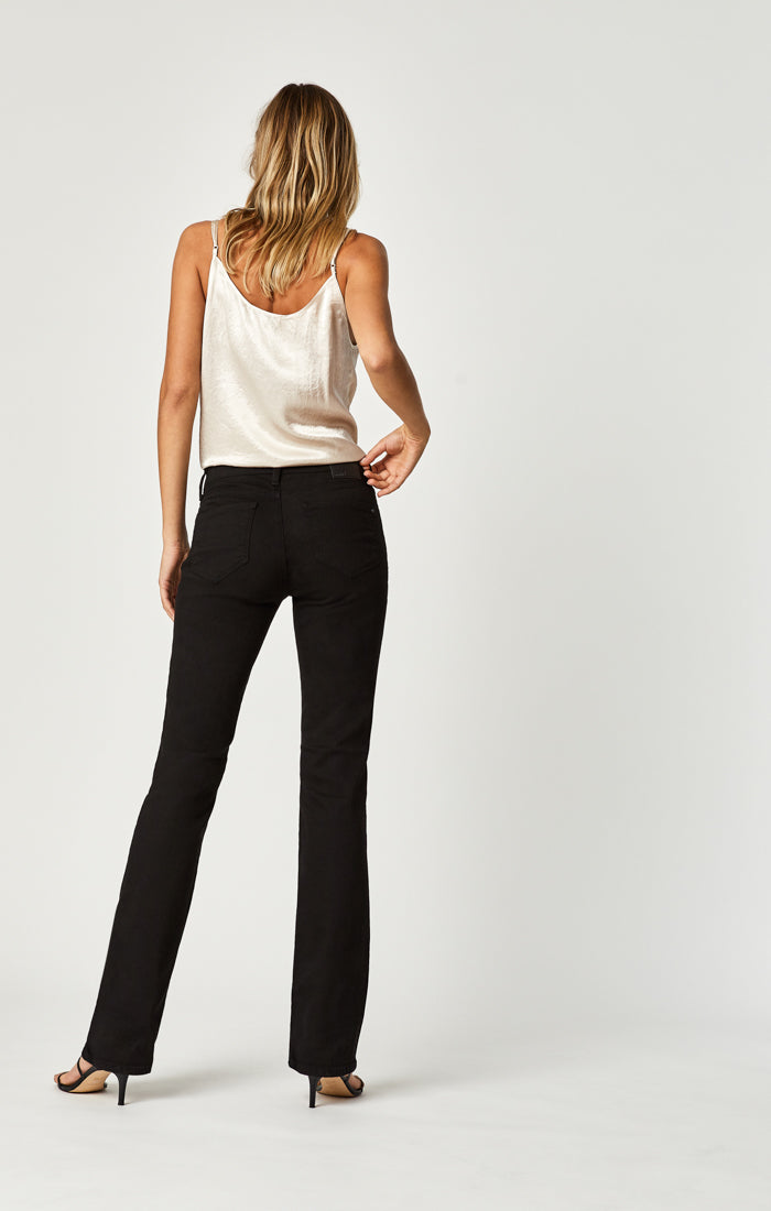 MOLLY BOOTCUT JEANS IN DOUBLE BLACK TRIBECA