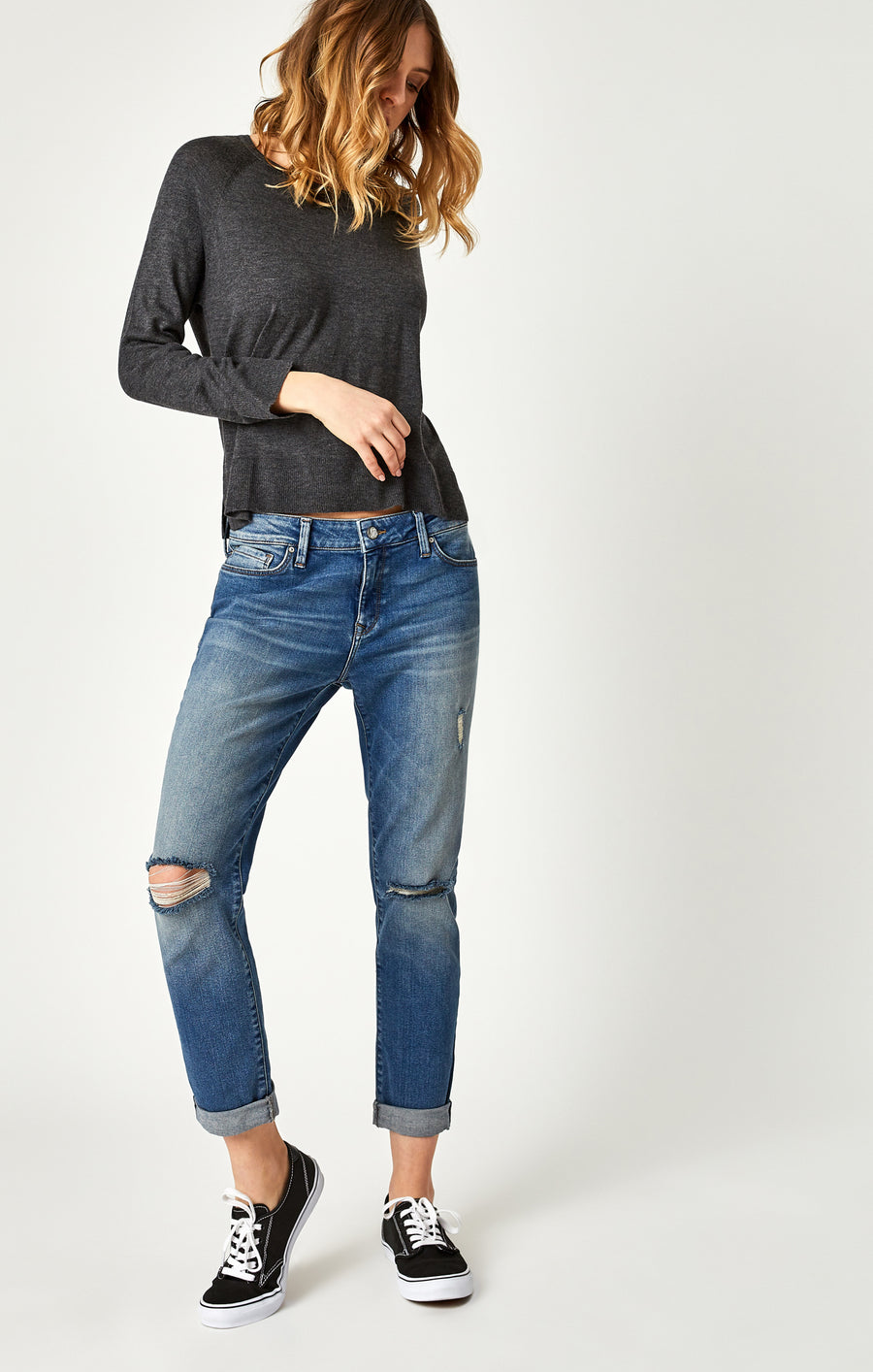 ADA BOYFRIEND JEANS IN MID SHADED 80'S VINTAGE - Mavi Jeans