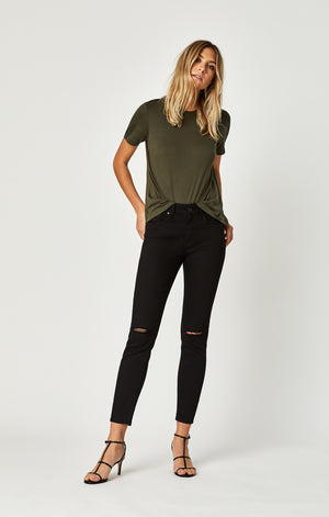 b4f32d3a391 ... ALISSA ANKLE SUPER SKINNY JEANS IN DOUBLE BLACK RIPPED TRIBECA - Mavi  Jeans