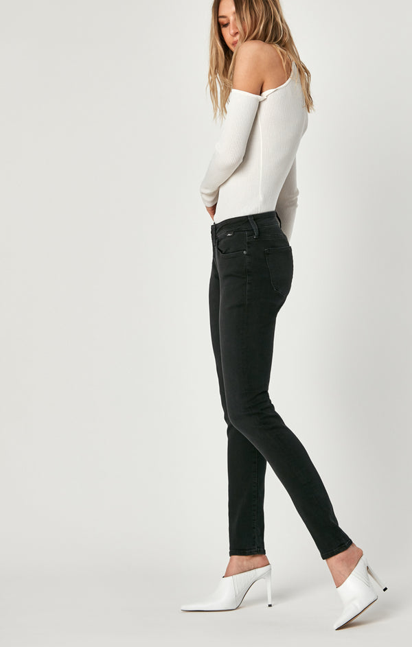 ALEXA SKINNY JEANS IN DARK SMOKE SUPERSOFT - Mavi Jeans