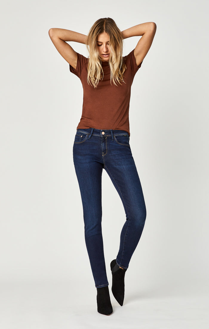 ALEXA SKINNY JEANS IN DEEP SOFT GOLD LUX MOVE