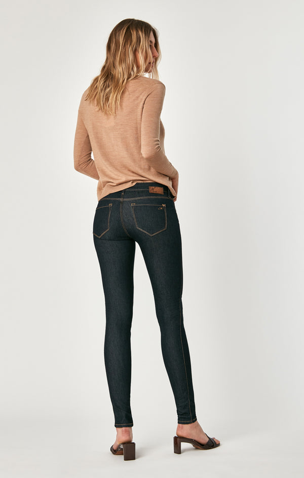 39ed43b877874 Mavi Women's Serena Low Rise Super Skinny Jeans in Rinse Super ...