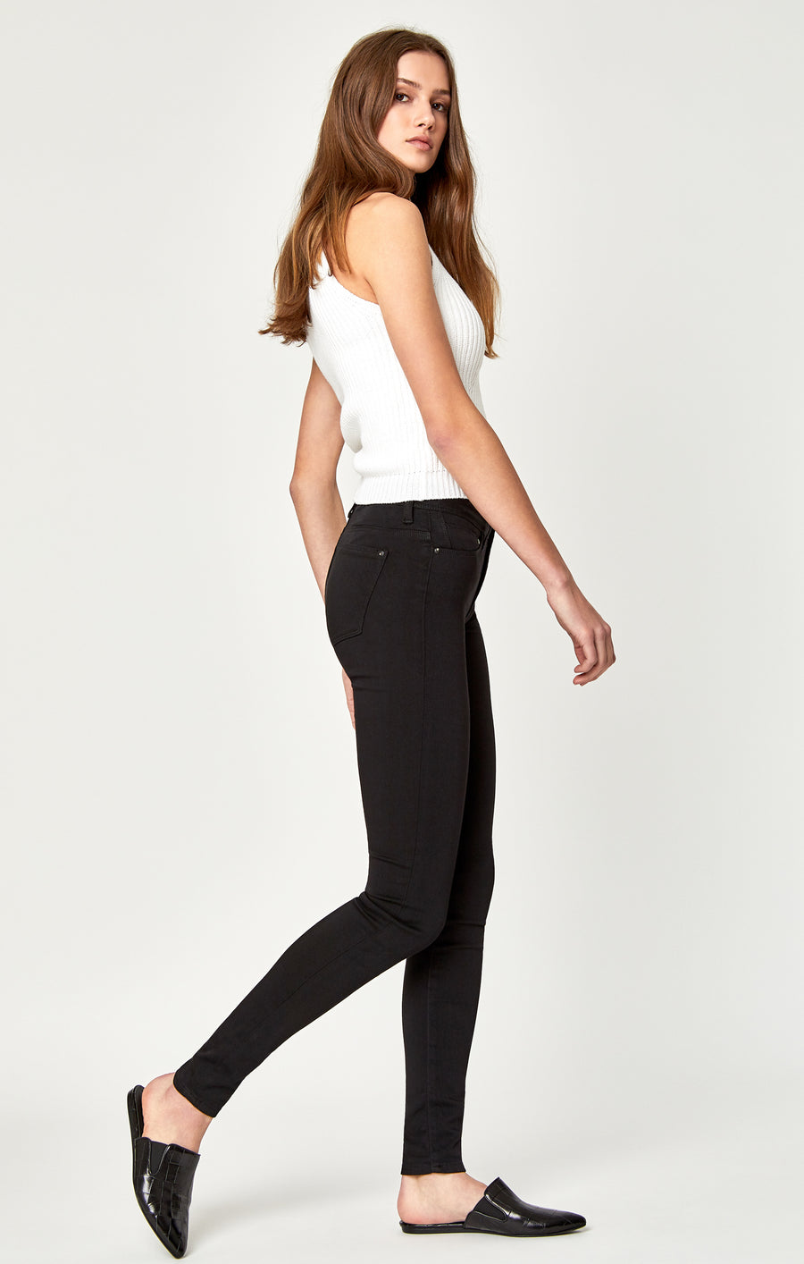 ALISSA SUPER SKINNY JEANS IN BLACK GOLD - Mavi Jeans