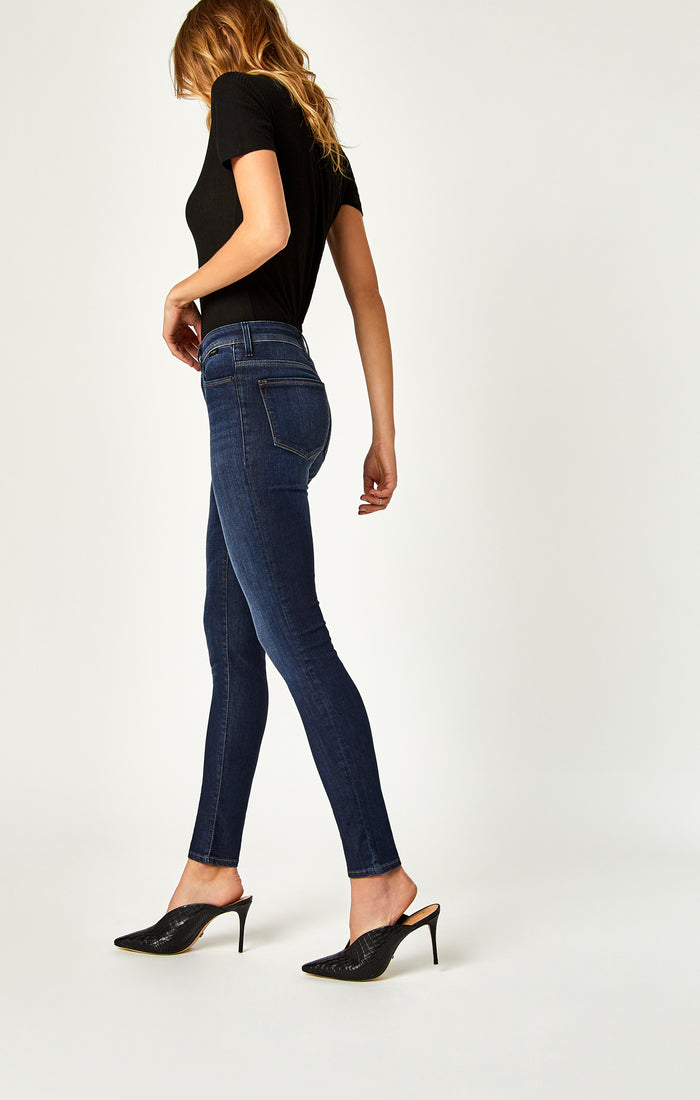 ALISSA SUPER SKINNY JEANS IN DARK BRUSHED INDIGO GOLD - Mavi Jeans