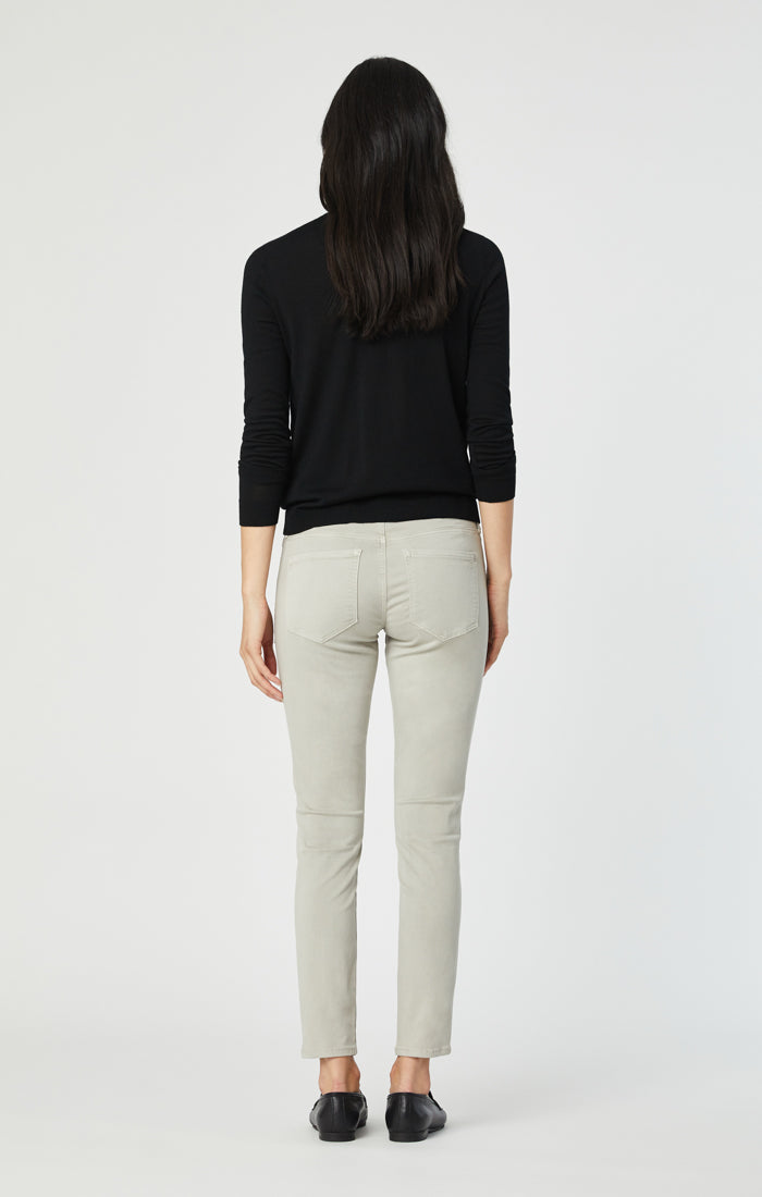 ALISSA SUPER SKINNY PANTS IN STONE GREY SATEEN TWILL - Mavi Jeans