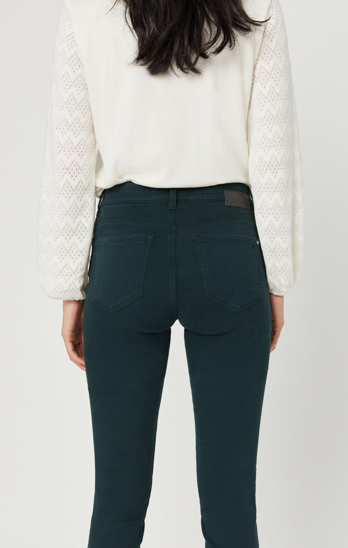 ALISSA SUPER SKINNY PANTS IN GREEN COLOURED - Mavi Jeans