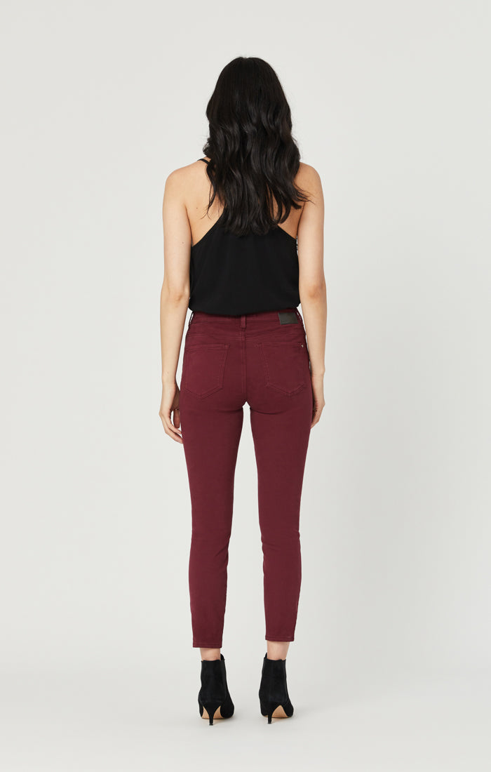 ALISSA SUPER SKINNY PANTS IN BORDEUX COLOURED - Mavi Jeans