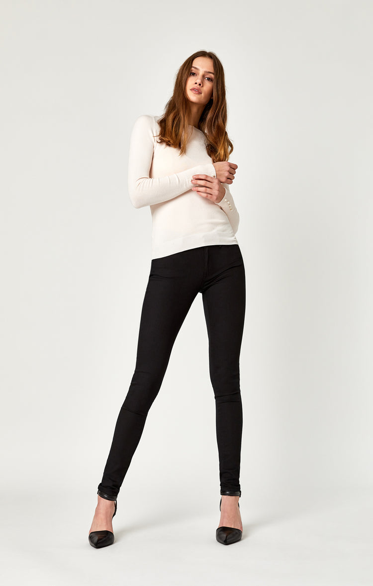 ADRIANA SUPER SKINNY IN DOUBLE BLACK GOLD REFORM - Denim - Mavi Jeans