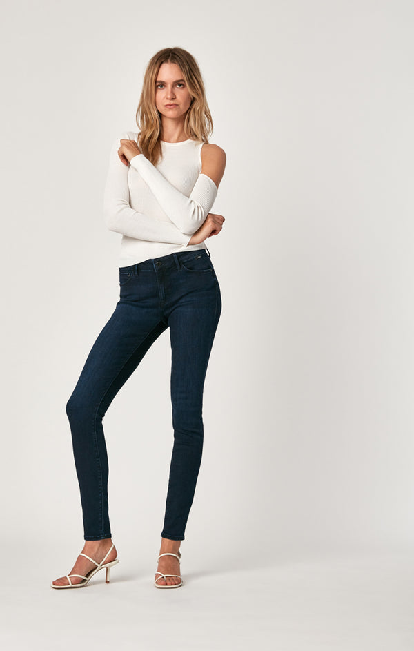 ADRIANA SUPER SKINNY JEANS IN DEEP MIDNIGHT SUPERSOFT - Mavi Jeans