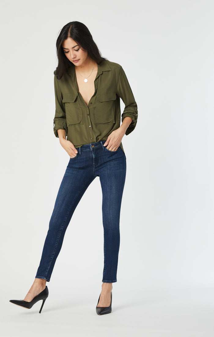 ADRIANA SUPER SKINNY JEANS IN DEEP SOFT GOLD - Mavi Jeans