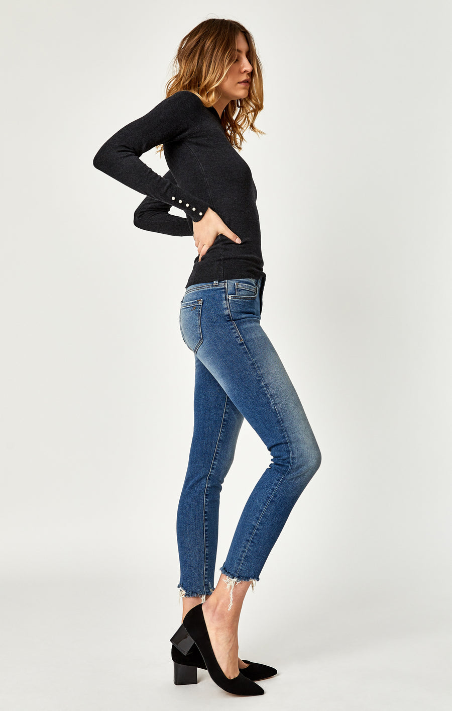 ADRIANA ANKLE SUPER SKINNY JEANS IN SHADED 80'S VINTAGE - Mavi Jeans