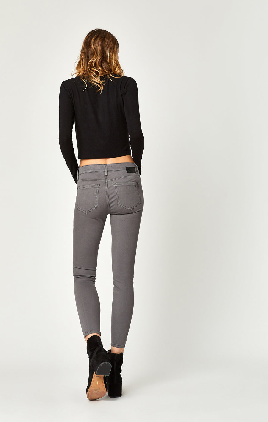KARLINA SKINNY CARGO PANTS IN GRANITE GREY TWILL - Mavi Jeans
