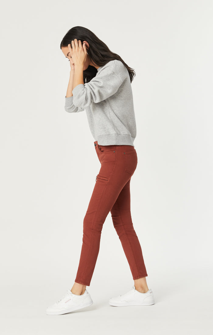 KARLINA SKINNY CARGO PANTS IN BURNT ORANGE TWILL - Mavi Jeans
