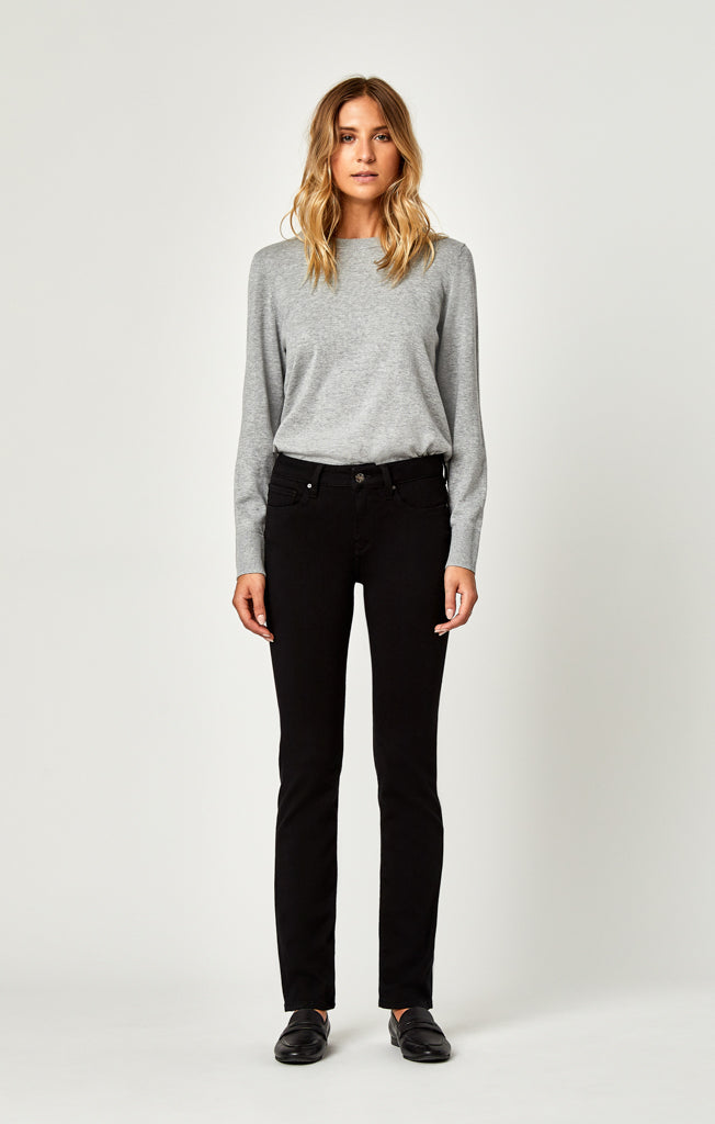 KENDRA STRAIGHT LEG JEANS IN JET BLACK