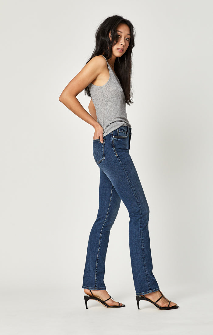 KENDRA STRAIGHT LEG JEANS IN INDIGO USED TRIBECA