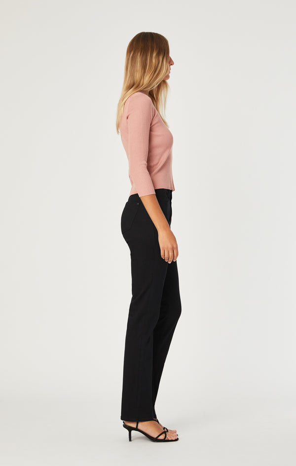 KENDRA STRAIGHT LEG JEANS IN BLACK TRIBECA - Mavi Jeans
