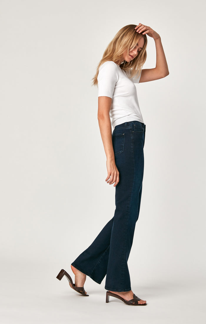 SYDNEY FLARE JEANS IN INK RINSE GOLD PIMA - Mavi Jeans