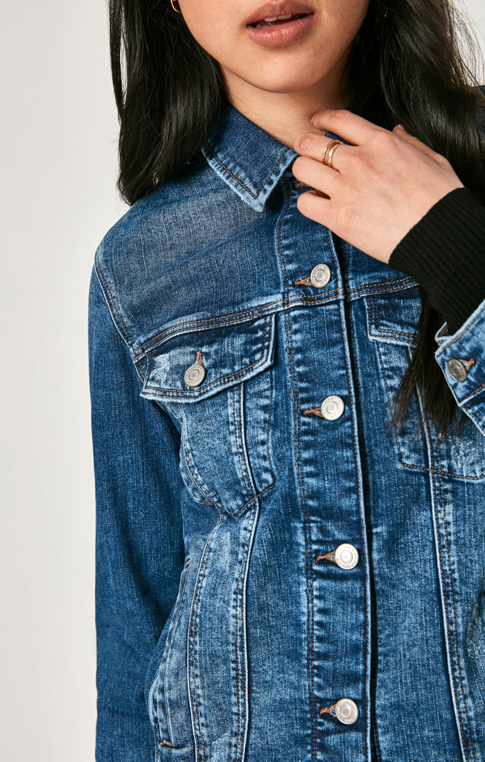 KATY DENIM JACKET IN DARK RANDOM VINTAGE - Mavi Jeans