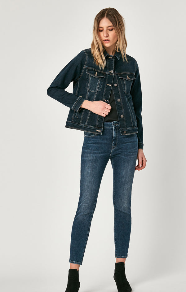 KATY DENIM JACKET IN BLUE-BLACK VINTAGE - Mavi Jeans
