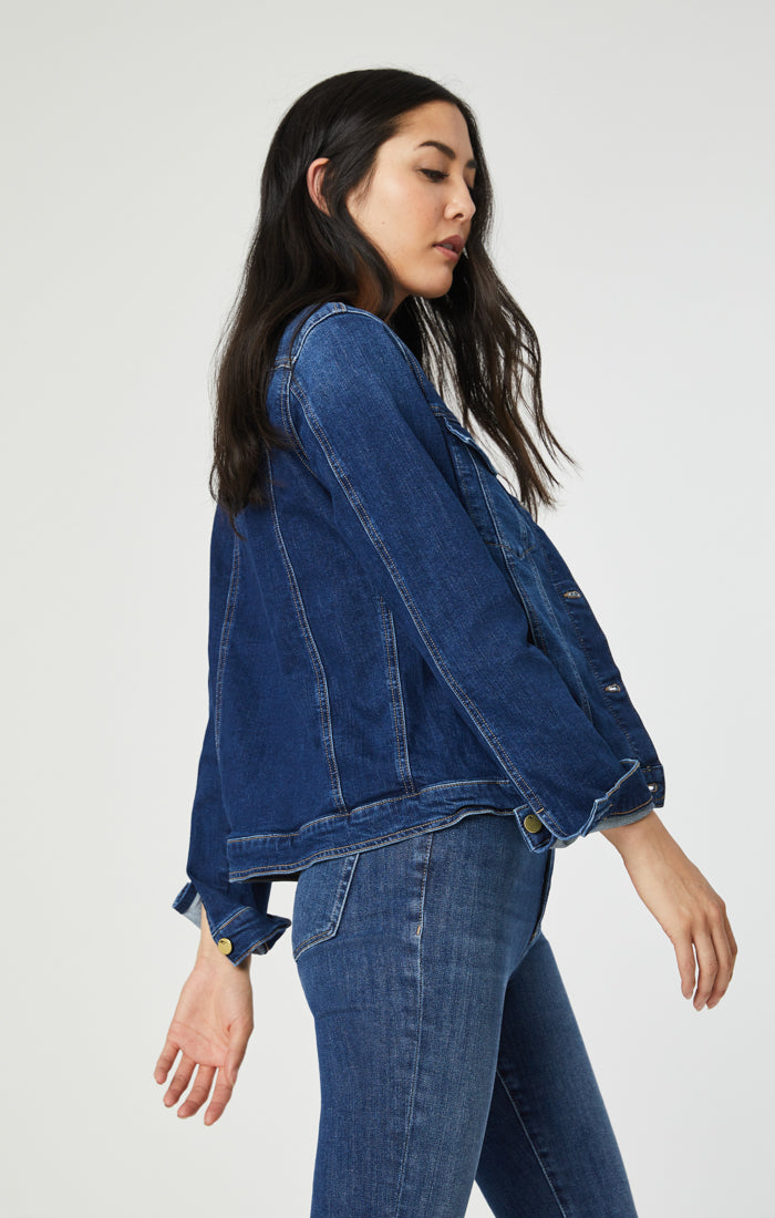 KATY DENIM JACKET IN DEEP VINTAGE - Mavi Jeans