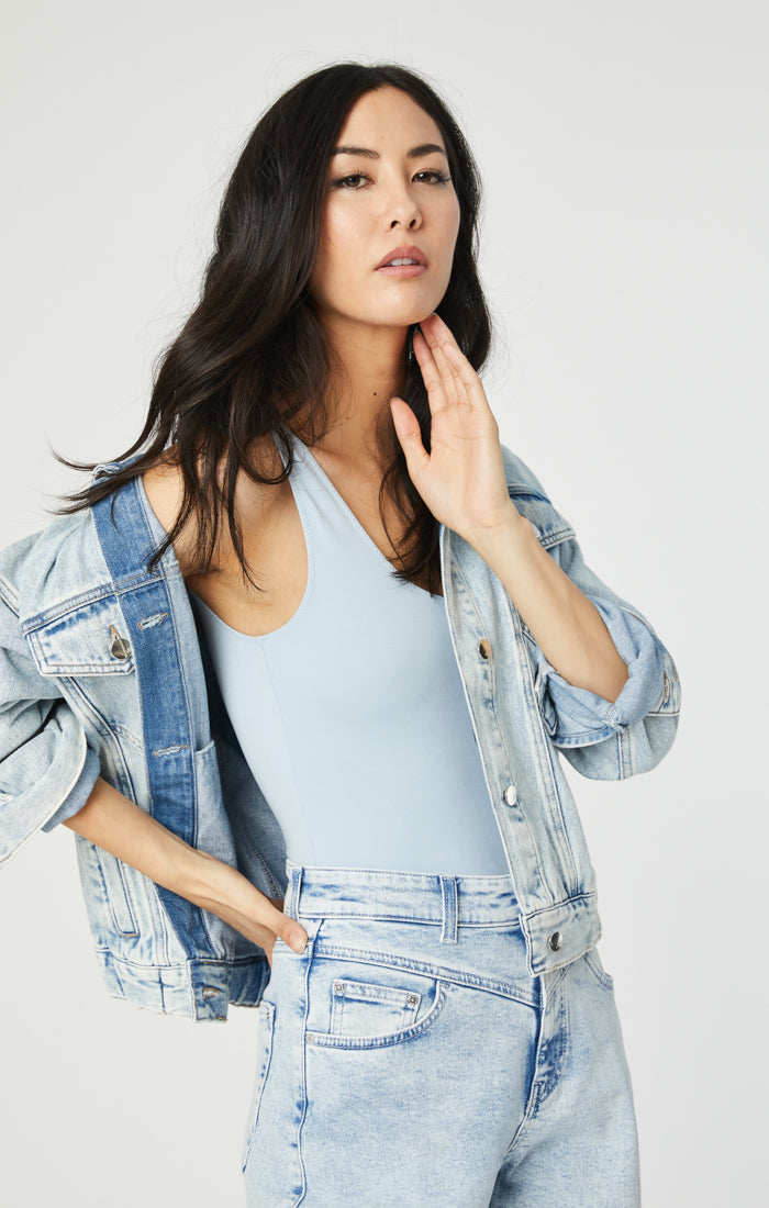 LINDA DENIM JACKET IN BLEACHED 90'S STRETCH - Mavi Jeans