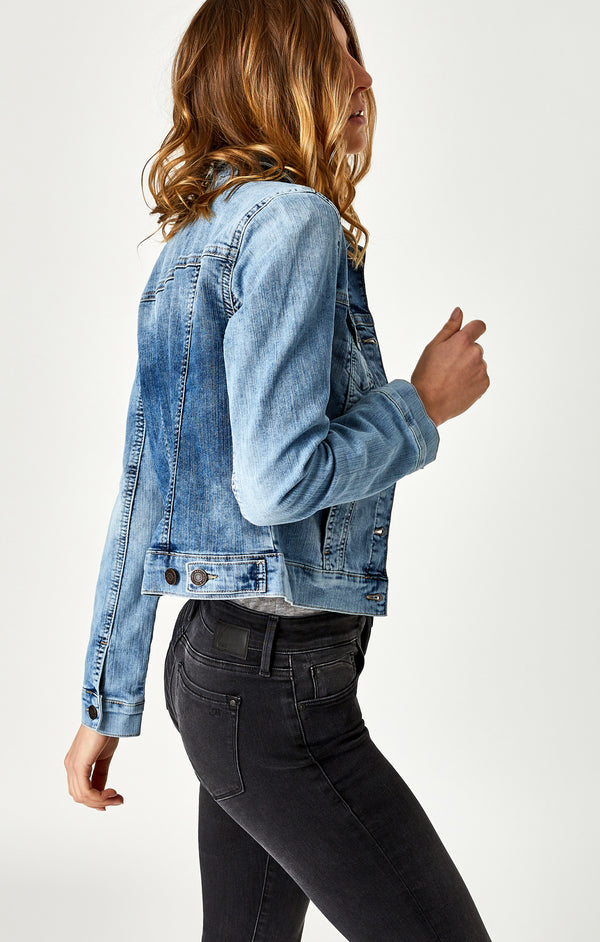 SAMANTHA DENIM JACKET IN BLEACH RANDOM NOLITA - Mavi Jeans