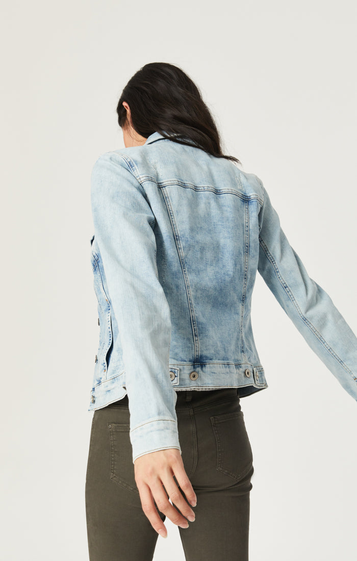 SAMANTHA DENIM JACKET IN BLEACH VINTAGE - Mavi Jeans