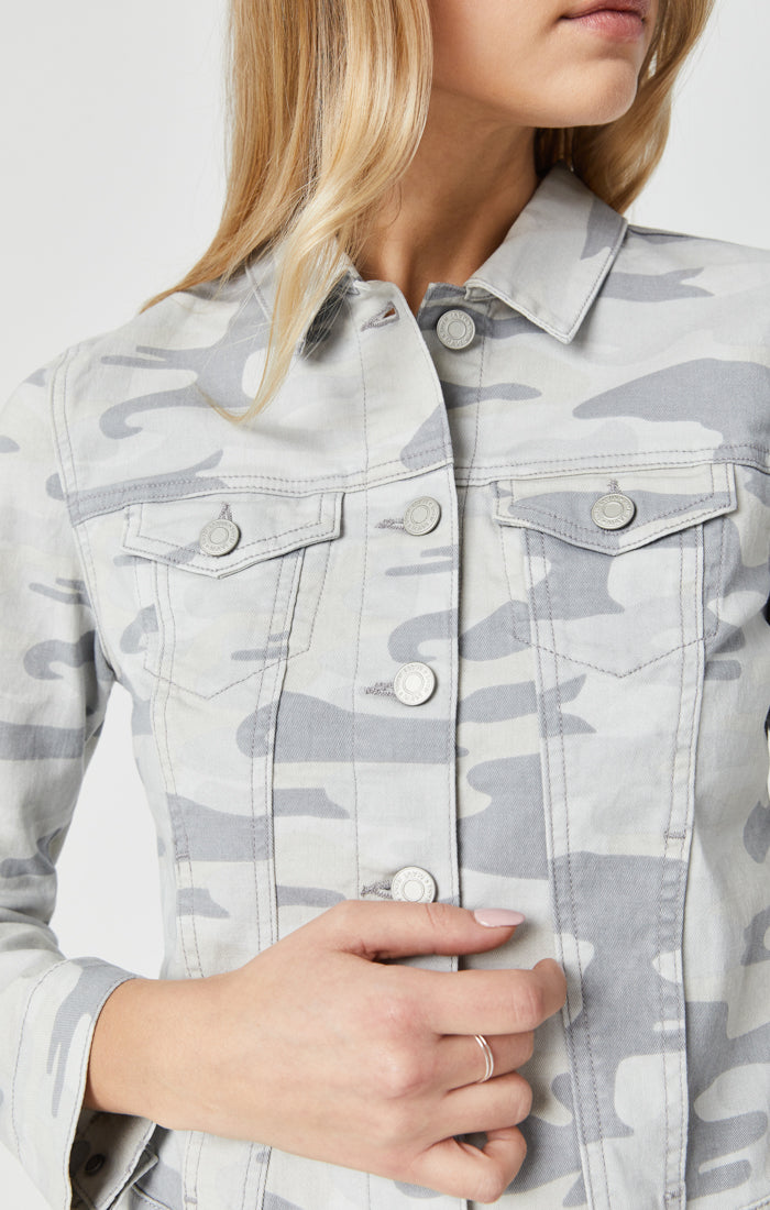 SAMANTHA DENIM JACKET IN GREY CAMO - Mavi Jeans