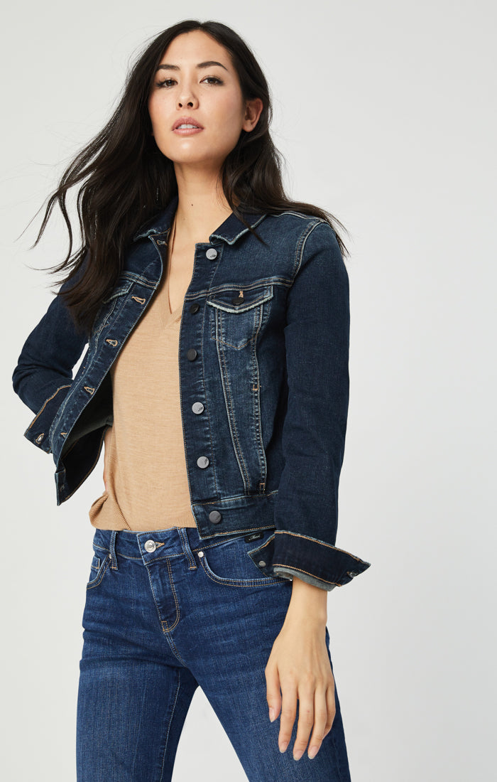 SAMANTHA DENIM JACKET IN DEEP TRIBECA - Mavi Jeans