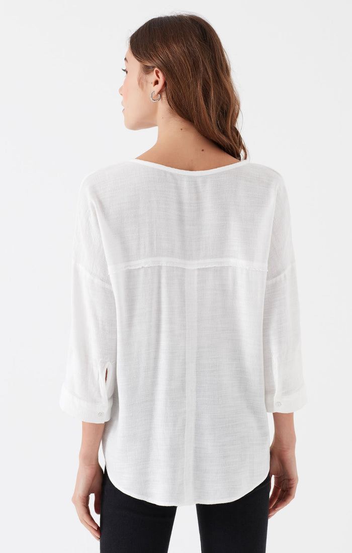 CHER LONG SLEEVE BLOUSE IN ANTIQUE WHITE - Mavi Jeans