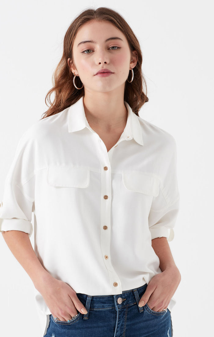 BETH UTILITY BLOUSE IN ANTIQUE WHITE - Mavi Jeans