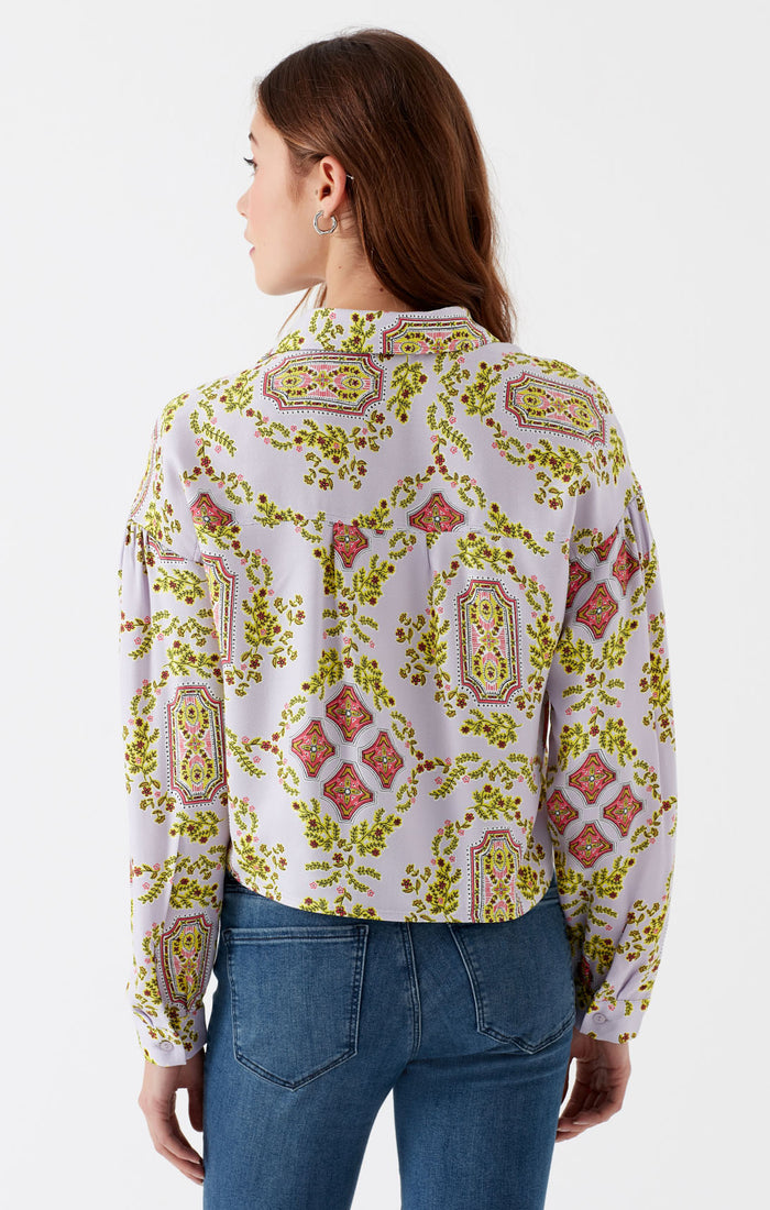 VAL CROPPED BLOUSE IN ORCHID BLOOM - Mavi Jeans