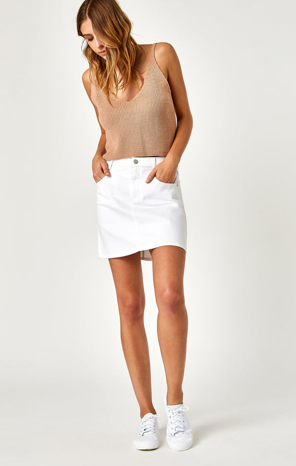 ABBY DENIM SKIRT IN WHITE - Mavi Jeans