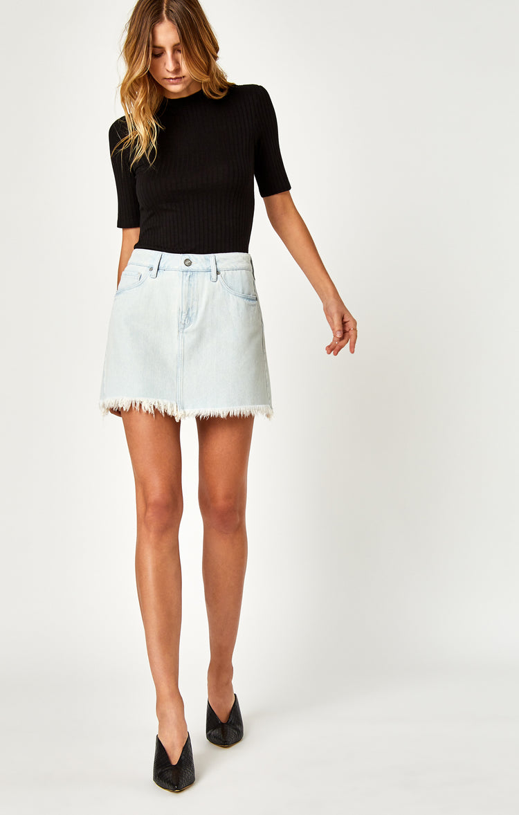 LINDSAY SKIRT IN USED BLEACH - Skirts - Mavi Jeans