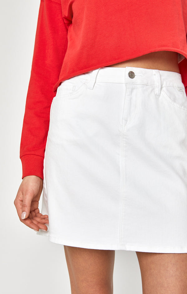 RITA SKIRT IN WHITE STRETCH - Mavi Jeans