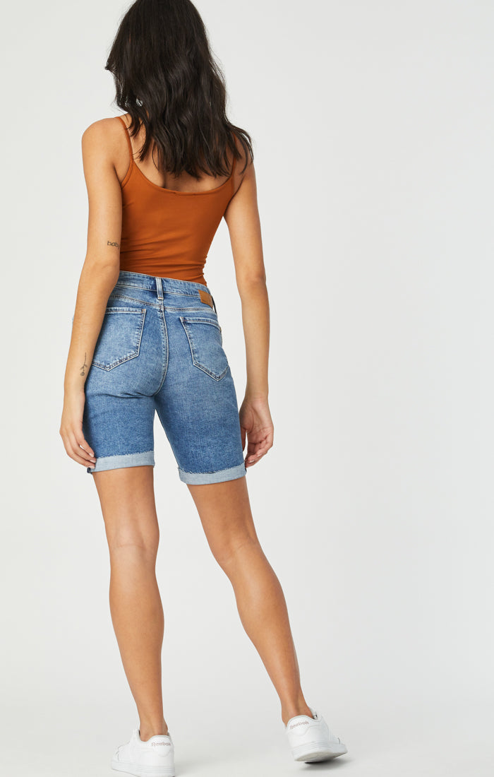 ALEXIS SHORTS IN RIPPED & FRINGE VINTAGE - Mavi Jeans